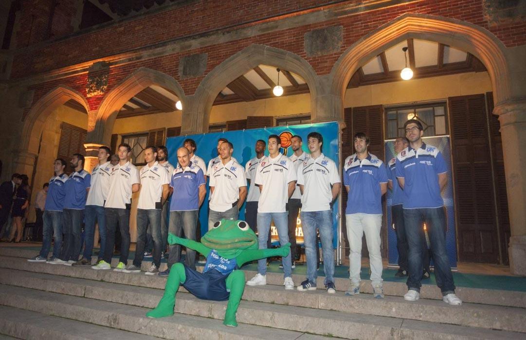 presentación equipo baloncesto gipuzkoa basket en san sebastian