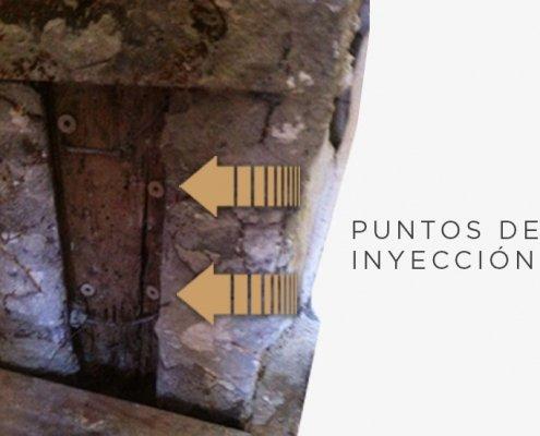 inyección en madera tratamiento anti-termita