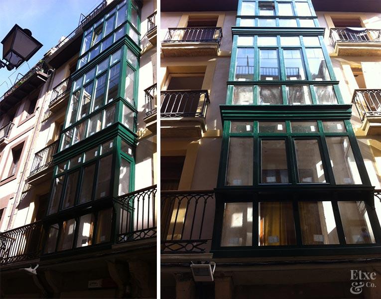 rehabilitación fachada parte vieja