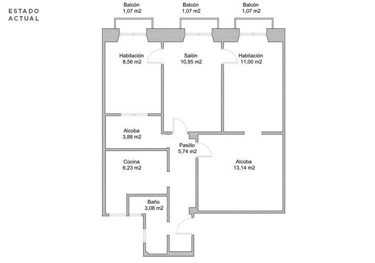 plano de vivienda antes de la reforma