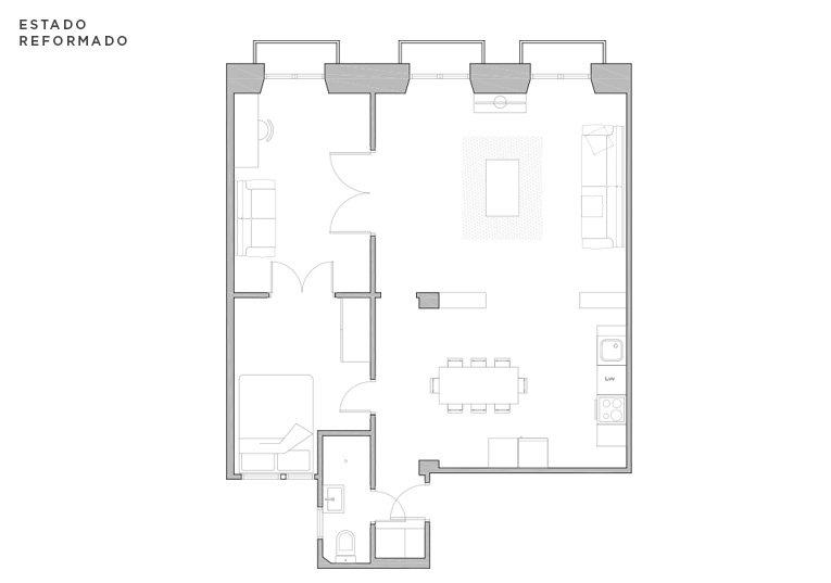plano de vivienda después de la reforma