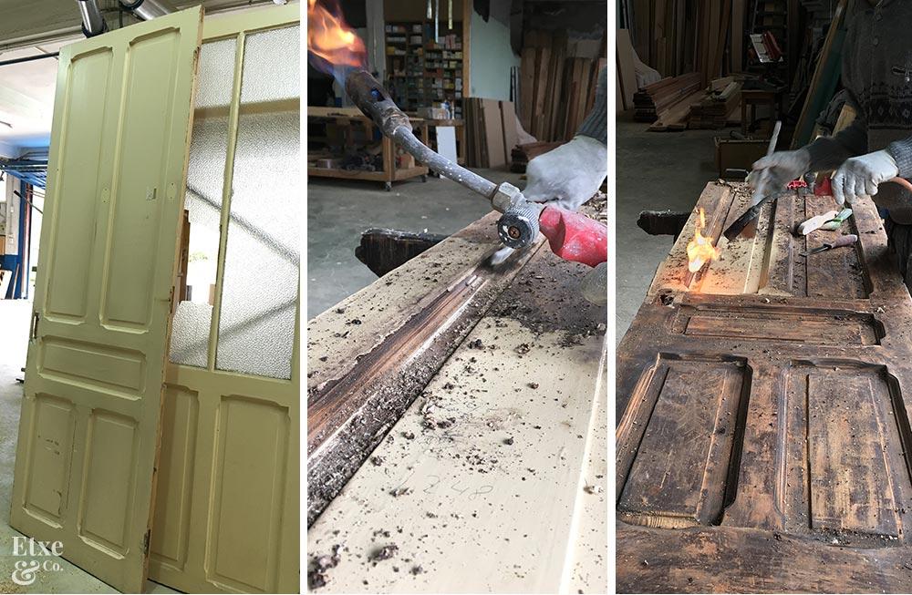 Proceso de restauración de las puertas