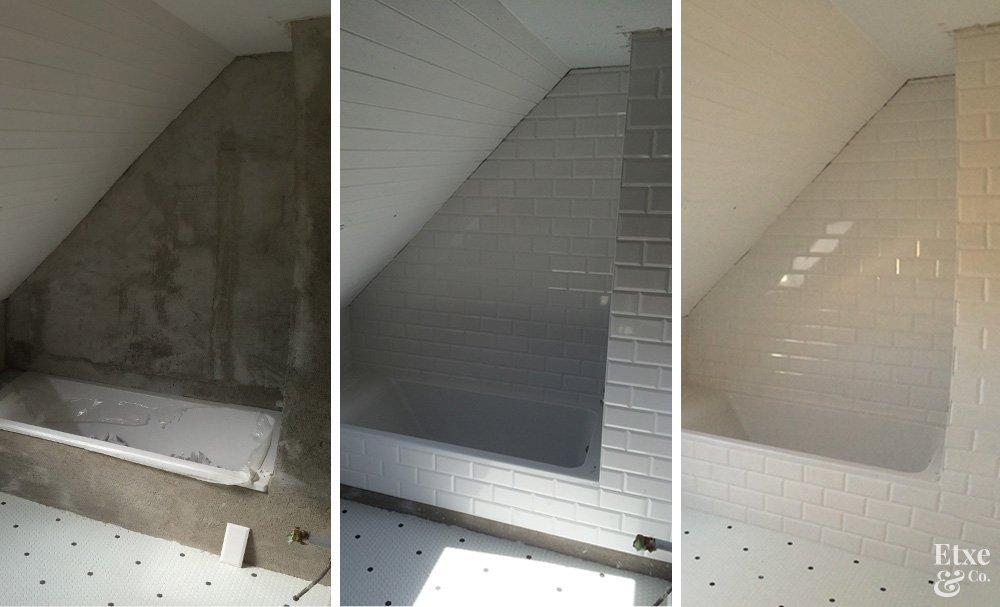 reforma baño techo abuhardillado en piso san sebastian