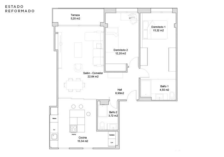 propuesta de reforma de la vivienda de la calle zumalakarregi