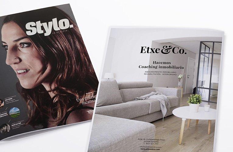 etxe&Co en prensa en la revista stylo de noticias de gipuzkoa