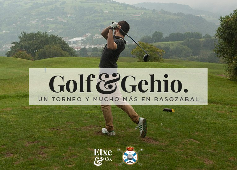 campeonato de golf 2016 en el campo de golf en el club basozabal de san sebastian golf & gehio