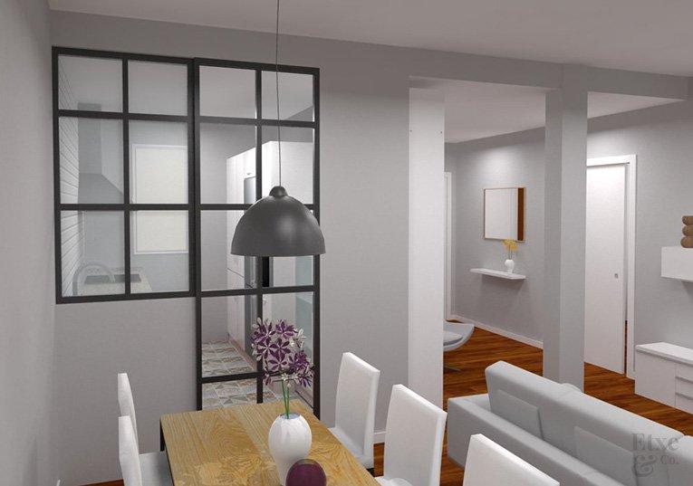 vidriera industrial para separar espacios