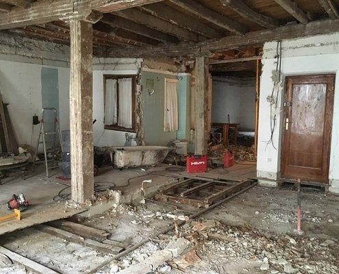 obras en la reforma de la vivienda antigua en san sebastián