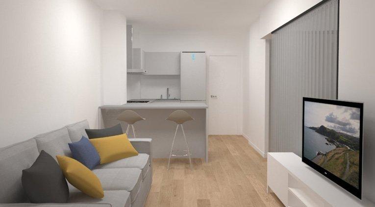 reforma integral de vivienda 30m2 en san sebastian
