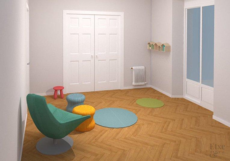 propuesta de sala de juegos en la reforma de la vivienda de la calle prim