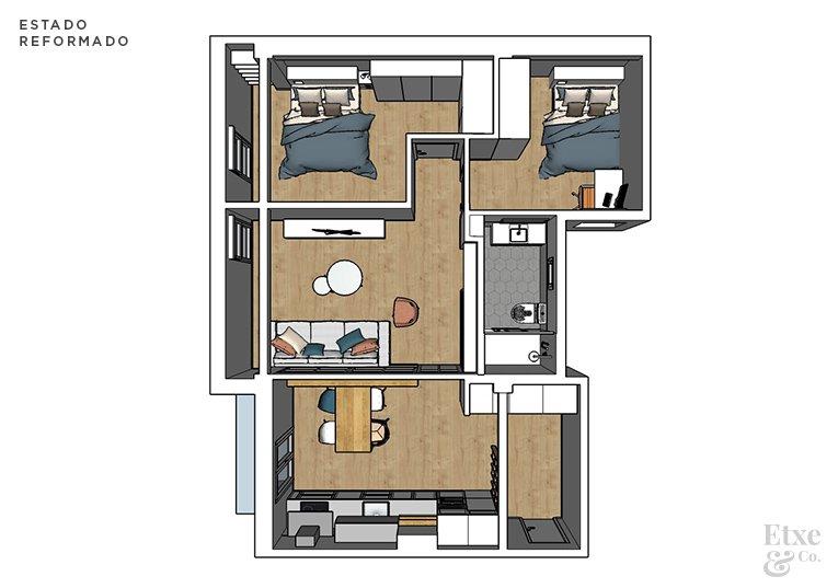 propuesta de reforma de vivienda en el barrio de egia
