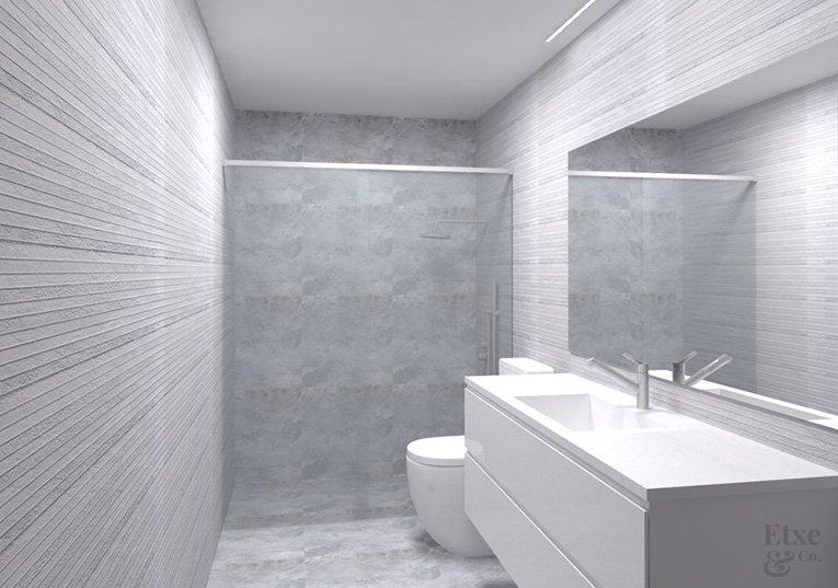 cuarto de baño de la habitación principal reforma vivienda barrio gros estado reformado