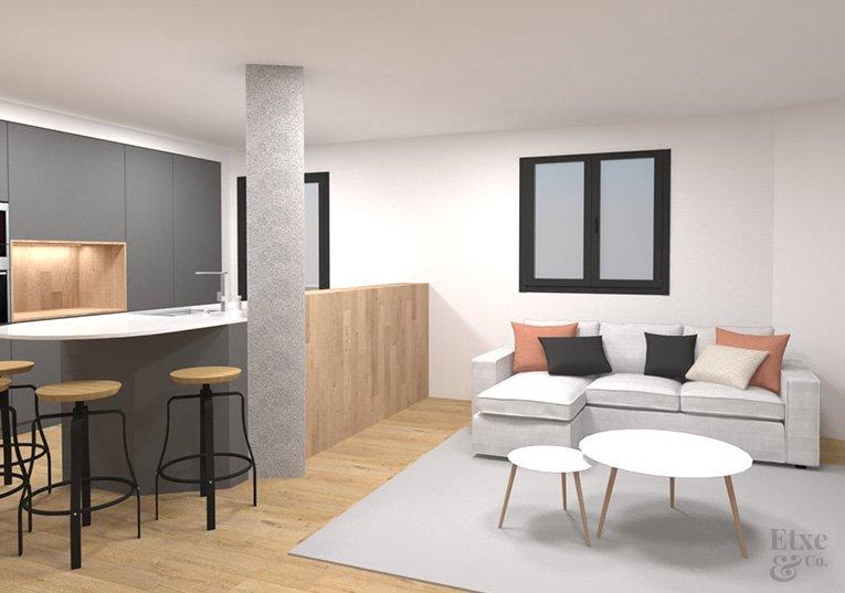reforma vivienda barrio gros estado reformado sala de estar