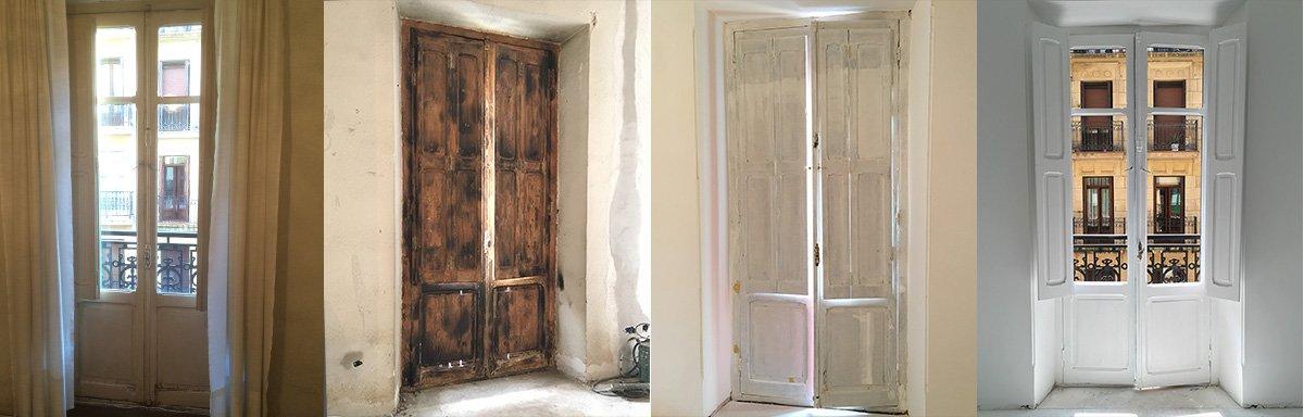 restauración de puertas de la vivienda de la parte vieja