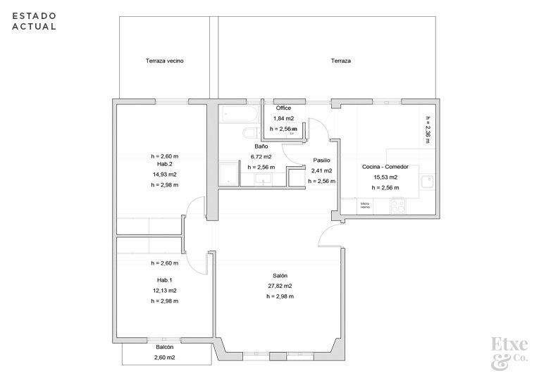 plano estado actual de la vivienda calle san juan