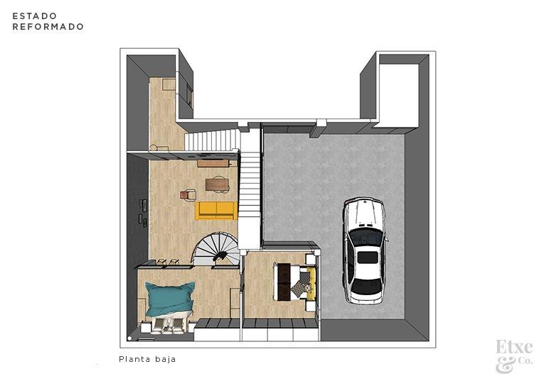 propuesta reformada entreplanta garaje convertido en vivienda