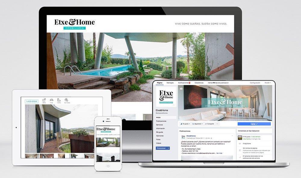 nueva web responsive de la inmobiliaria etxe and home