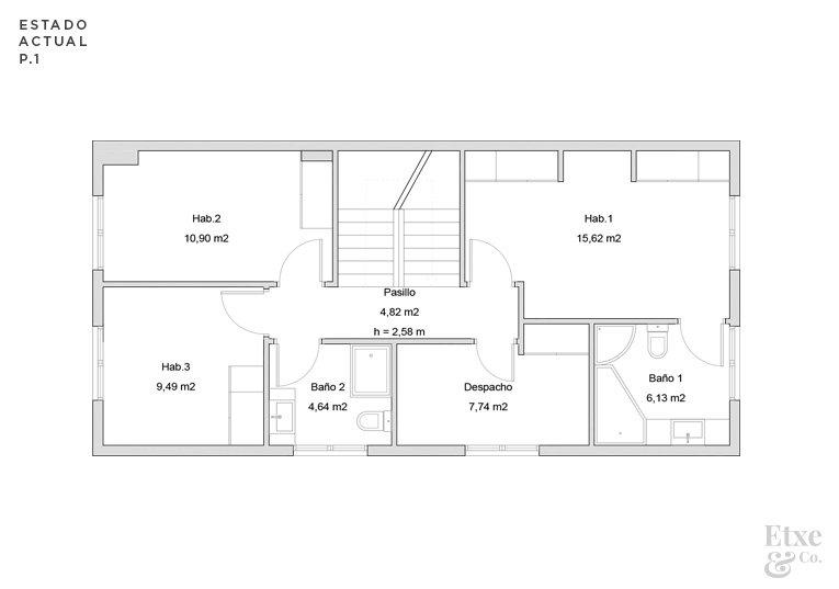 reforma parcial del primer piso de la vivienda landberri del barrio san patricio en san sebastian