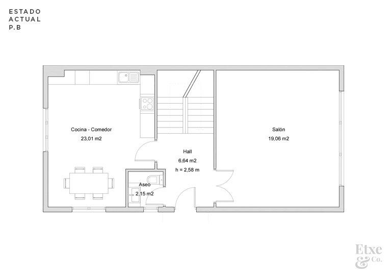 reforma parcial del segundo piso de la vivienda landberri del barrio san patricio en san sebastian