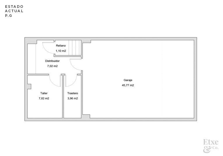 reforma parcial del garaje de la vivienda landberri del barrio san patricio en san sebastian