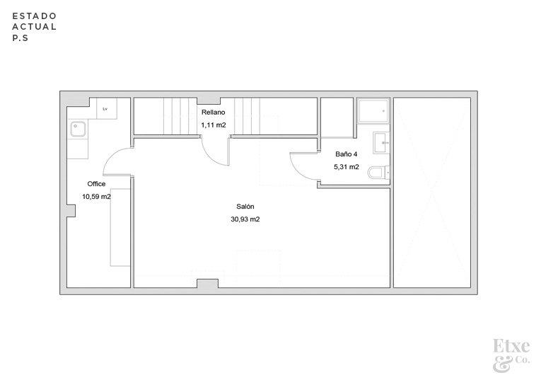 reforma parcial del sótano de la vivienda landberri del barrio san patricio en san sebastian