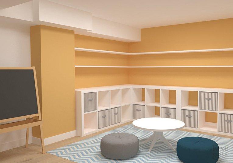 proyecto de la reforma integral del sótano de la vivienda Landaberri del barrio de Aiete en San Sebastián.