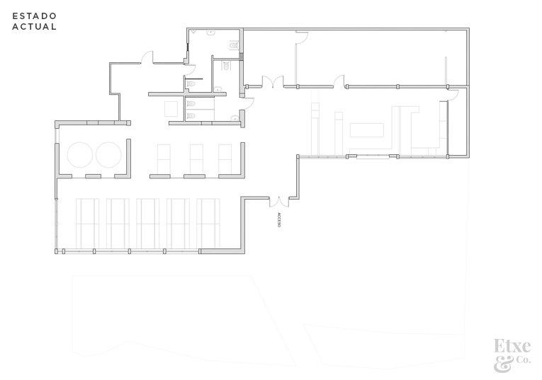 Plano del estado actual del asador Bugati