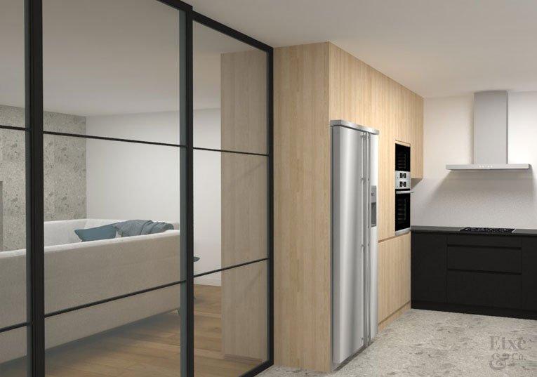 Propuesta 3D para la reforma de la vivienda de Bera Bera en San Sebastián.