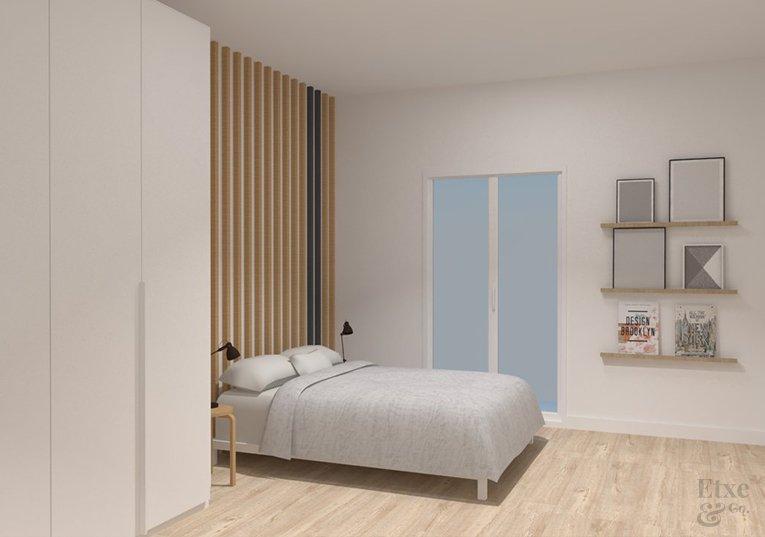 Imagen de la habitación adaptada para personas de más de 2 metros de largo