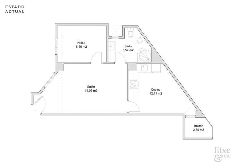 Plano del estado actual de la casa Isabel II