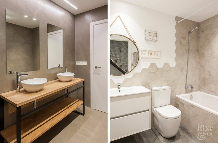 Baños en vivienda de Bera Bera