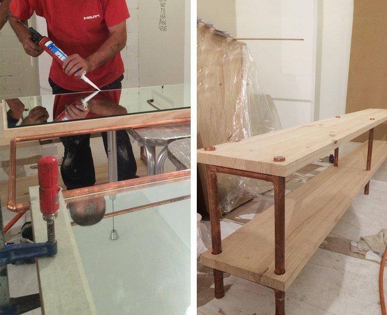 Elaboración de muebles para la tienda Vuelve Marcela