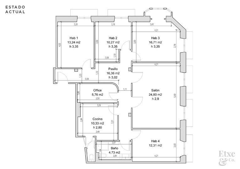 Fotos del plano actual del piso de San Bartolome