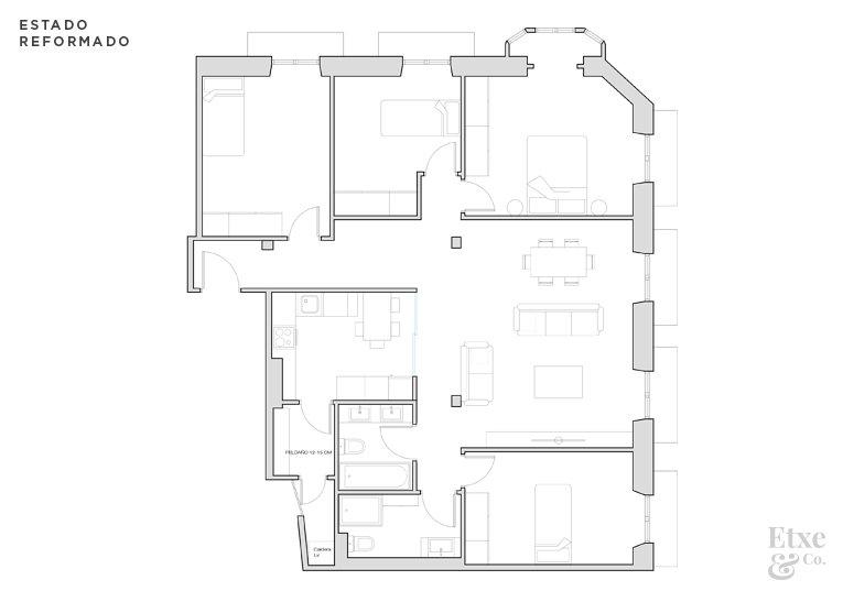 Fotos del plano después de la reforma del piso de San Bartolome