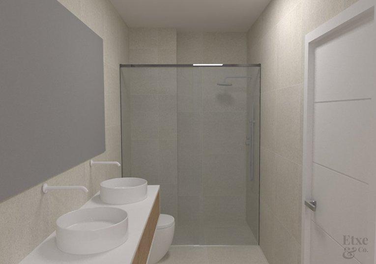 Baño reformado en piso San Bartolome