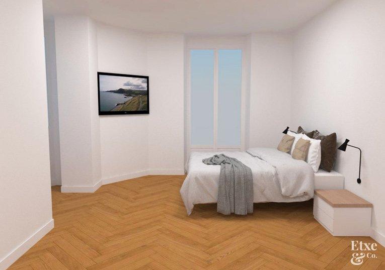 Dormitorio reformado en piso de San Bartolome