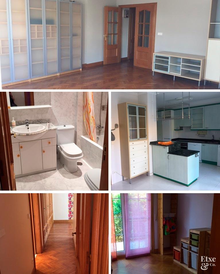 Estado de la casa actual en apartamento de paseo Berio, Donostia