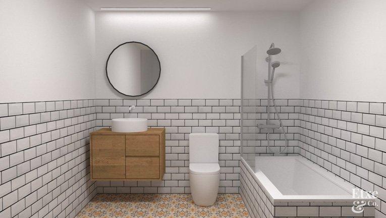 Baño reformado en apartamento de paseo Berio, Donostia