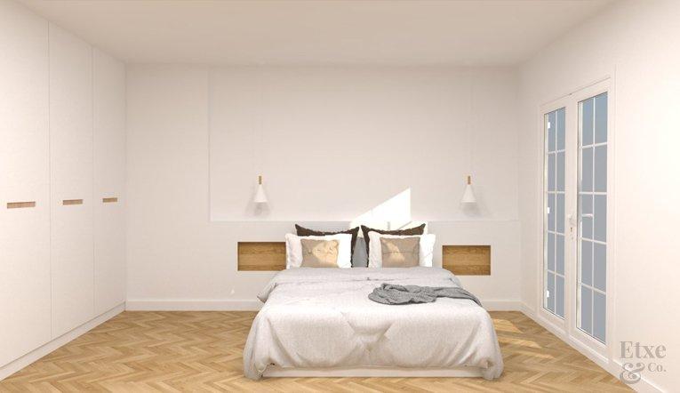 Habitación reformada en apartamento de paseo Berio, Donostia