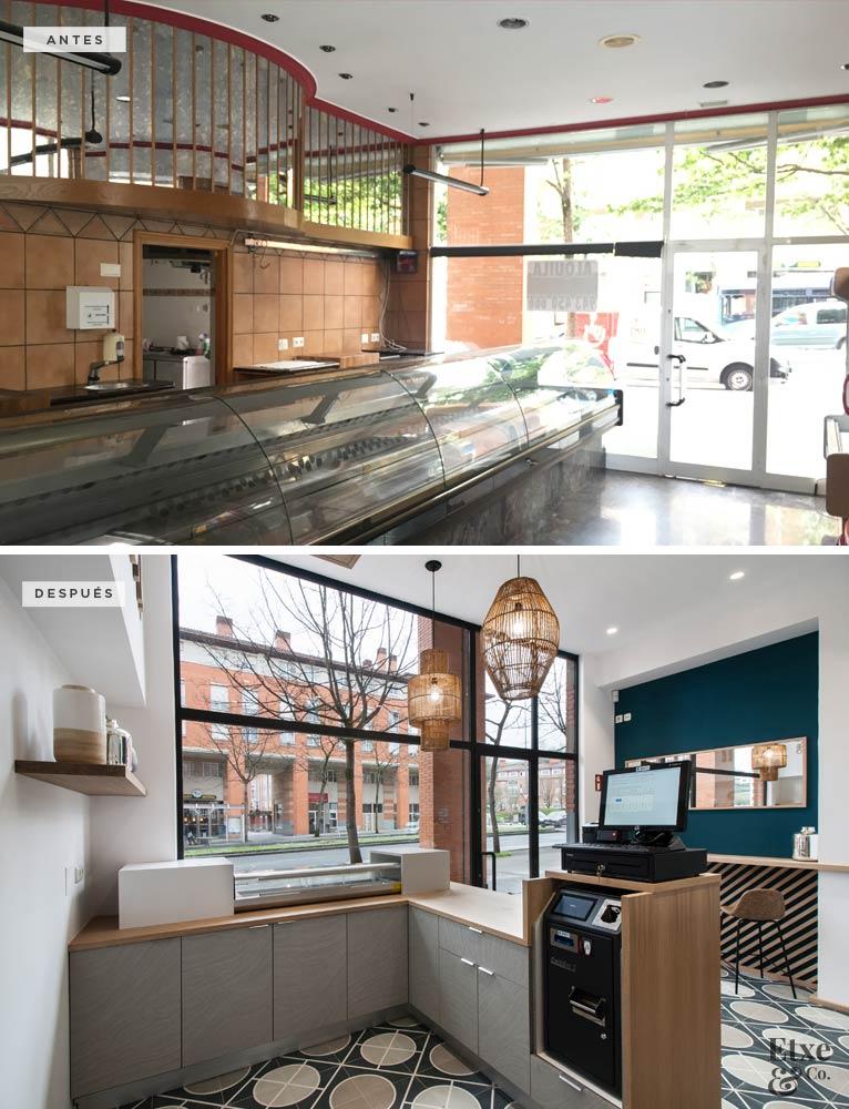 Interior del local Sushi Donostia recién reformado