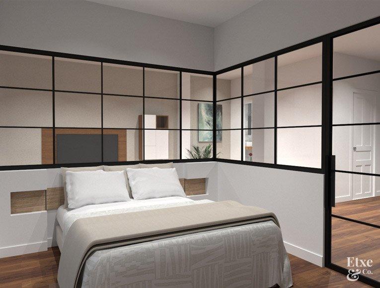 Dormitorio reformado piso calle San Francisco